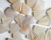White Agate Kite Shaped Beads