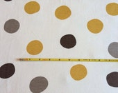 "NEW Birch Big Dots Organic Cotton Interlock 42-44"" wide per yard"