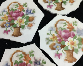 6 Mosaic Supply Petit Point Broken China Mosaic Focals