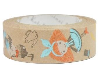 Alice Pochon Kraft Paper Masking Tape • Shinzi Katoh Design Japanese Washi Tape (ks-ct-10030)