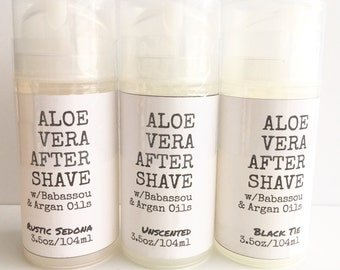 Aloe Vera Aftershave - babassou oil . argan oil. for him and her. grooming. personal care. skincare. leaves skin silky