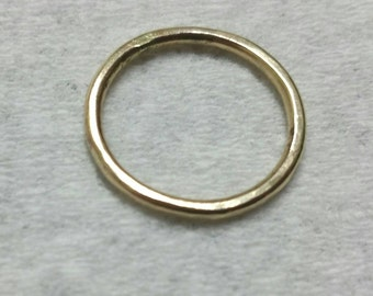 14k Gold Fill Stacking Ring, Gold Band, US Size 5 Gold Ring, Men's Ring, Women's Ring, Handmade Hammered Gold Ring Maggie McMane Designs