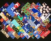 I SPY for BOYS 100% cotton Prewashed Multi- Color 4 inch Quilt Block Fabric Squares (#stk 22A)