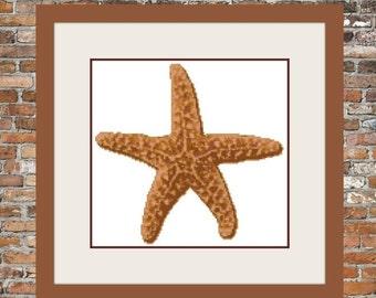 Starfish Counted Cross Stitch Pattern