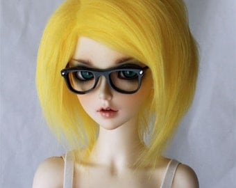 SD BJD Doll wig in Yellow Fake Fur MonstroDesigns