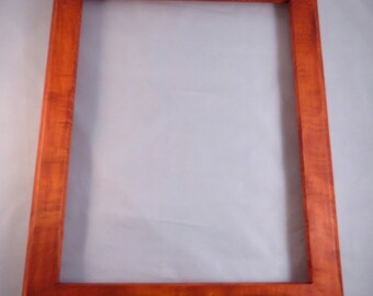 11x14  Curly Maple with Orange Dye Picture Frame-2