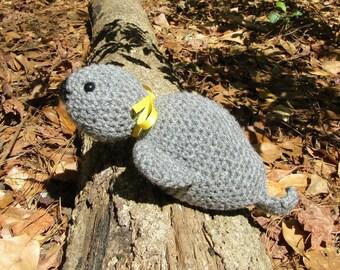 Huggable Harbor Seal - Crocheted Seal - Plush Sea Animal - Amigurumi Marine Animal - Toybox Toy Seal - Plush Ocean Animal - Ready-to-Ship