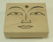 Face Of Buddah Wood Mounted Rubber Stamp E-59-966 Stampa Rosa Inc