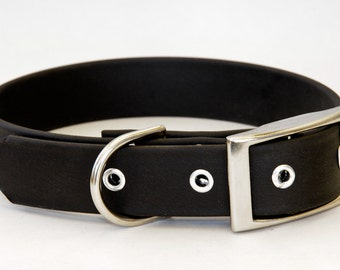 Dog Collar - Faux Leather 5/8 & 1 Inch widths  - Vegan, Fake Leather