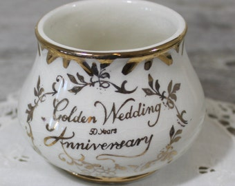 Arthur Wood Sugar Bowl, Golden Wedding Anniversary, 50 years, Tea Time Sugar Bowl, Tea Party, Vintage Chic, Wedding Tabletop,