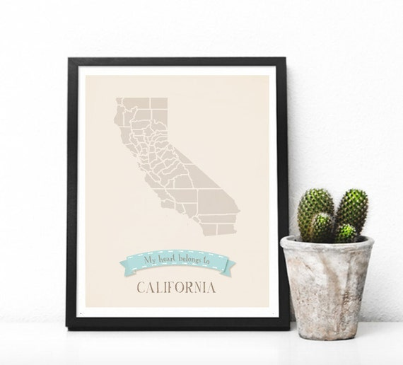Pick Your State: My Roots Personalized Vintage Map Wall Art 11x14-Customized Map Print