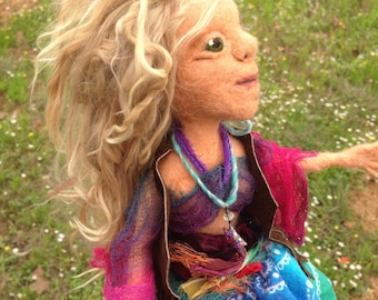 Needle Felted Figure Willa Wildstar