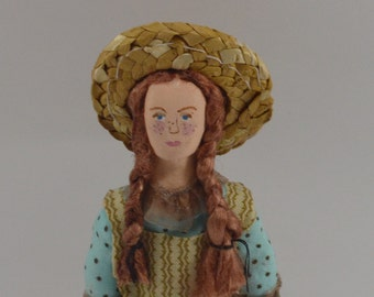 Anne of Green Gables Doll Miniature Classic Literature Unique Art