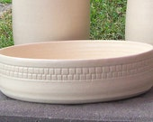 White Ceramic Fruit Bowl, White low serving bowl, Farmhouse Pottery Bowl, Home Decor Gift, Kitchen Decor Bowl, Wedding Gift, Kitchen Gift
