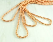 Solid copper twist cable chain 2mm 10 feet