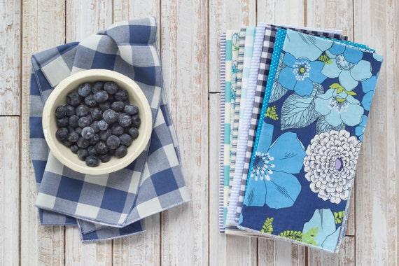 Color Block Bundle in Blues- set of 10 by Dot and Army