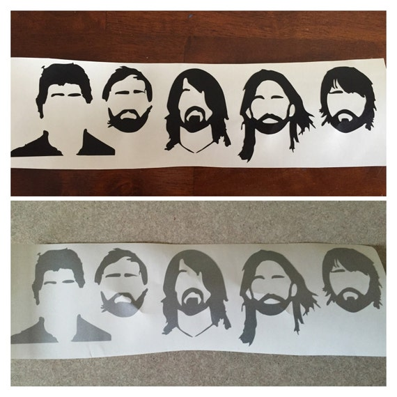 Foo Fighters Silhouette Vinyl Decal Sticker From