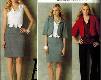 Simplicity 2345 Sewing Pattern Office Style Sizes 16-18-20-22-24 top Blazer skirt pants PLUS