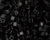 Black Miyuki Cube Seed Bead 1.8mm 8.2gm Tube SB18-401-TB