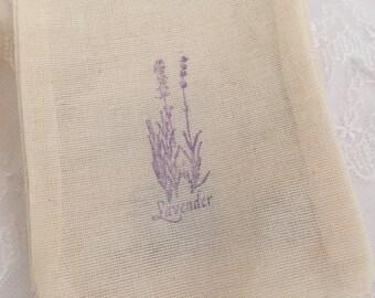 Lavender Favor Bags Muslin BagS 4x6 OR 5x7