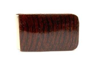 Handmade Wood Money Clip South African Wild Pear Wood