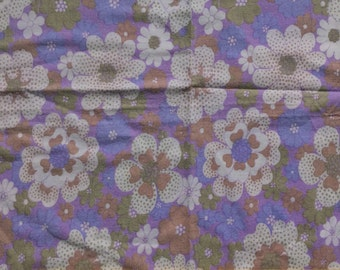 Seventies vintage floral fabric - 90x50 cm.