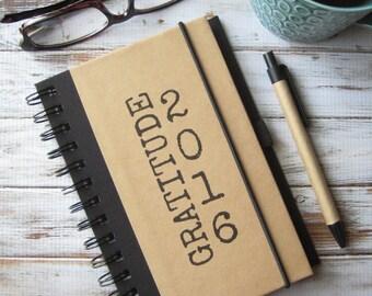 Gratitude Journal, 2016 Notebook, Writing Journal, Birthday Gift, Gratitude