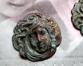 Hand Dirstressed Metal Finding/Pendant - 1