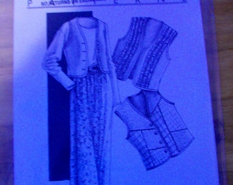 Vest and Wrap Skirt #105 Women's  Sewing Pattern