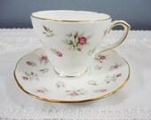 Vintage Duchess Marie Rosebud Bone China Teacup and Saucer