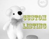 CUSTOM listing for Patty C. (First payment) - baby blue sock twin BEARS