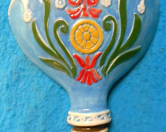Turquoise - Old Fashioned Hot Air Balloon Wall Decor