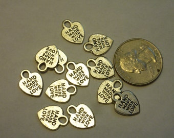 Hand Made With Love Charm Tag lot of 20