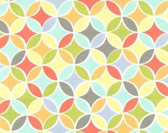 Michael Miller Tile Pile Multi Fabric, 1  yard