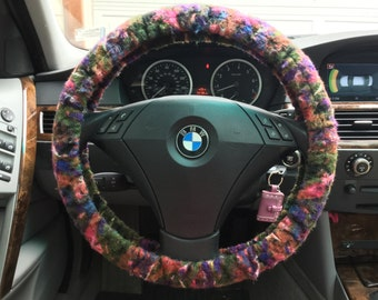 Sweater Felted Steering Wheel Cover