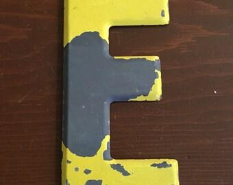 """Vintage metal letter E - 7.5"""""""