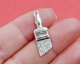 10 Paint Brush (3D) Charms 27x9x2.7mm Hole: 1.5mm