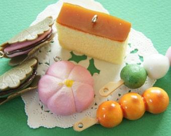 6 pcs Wagashi Japanese Sweets Charm Set AZ283
