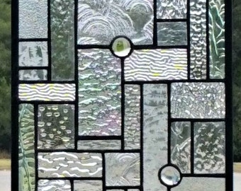 Stained Glass Hanging Panel - Elegant Textures (G-13)