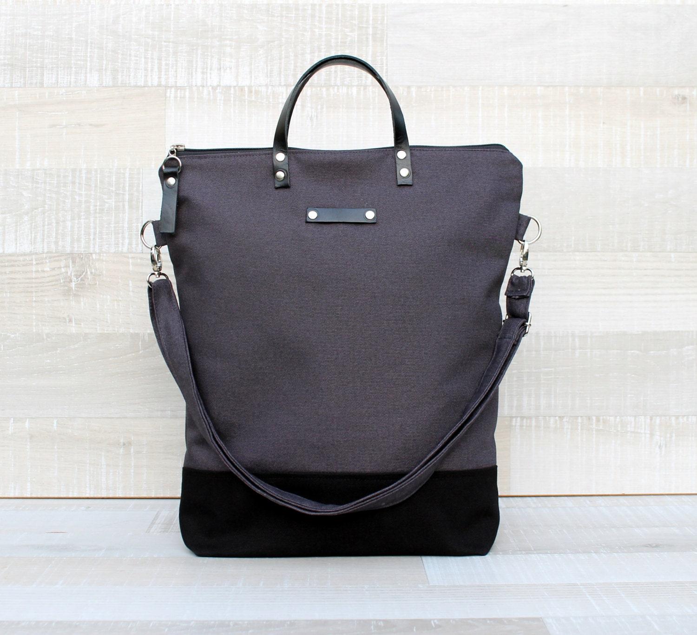 Comfort Unisex Tote canvas tote bag dark grey black tote