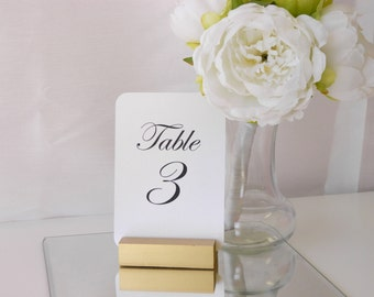 Table Number Holder + Gold Table Number Holder + Gold Wedding Table Number Holder