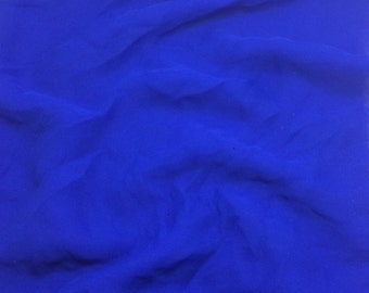MARINE BLUE Silk Chiffon Fabric - 1/2 yard