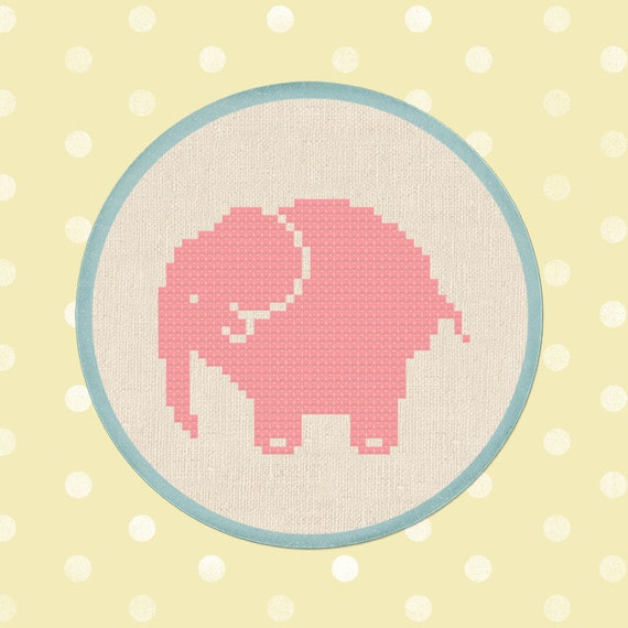 Cute Elephant. Cross Stitch PDF Pattern Instant Download