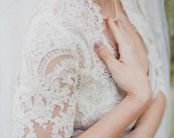 Modest Wedding Dress Topper - Plus Size Wedding Dress Topper - Modest Bolero - Stella