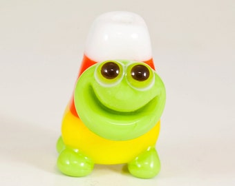 Happy Candy Corn Turtle Lampwork Bead