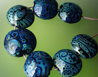 Magic Frost - Handmade Lampwork Beads Set (SRA)