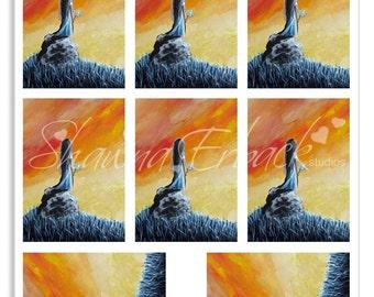 aceo, aceo originals, aceo collage sheets, aceo digital download, aceo printable, fantasy printables, aceo clip art, print yourself, digi