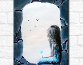 Limited Edition ACEO art print by Erback - The Secret Window #2/50