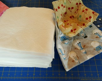 Pre-cut 9 inch squares of batting for Rag Quilts