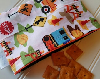 Snack-Bag-Trucks-Eco-Friendly-Reusable-Sandwich-Food-Toy-Art-Make-Up-Baby-Wet-Dry-Baggies-Lunch-Preschool-Back-To-School-Kids-Gift-Sets